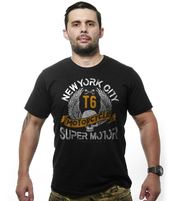 Camiseta Motorcycle T6 Old School Super Motor