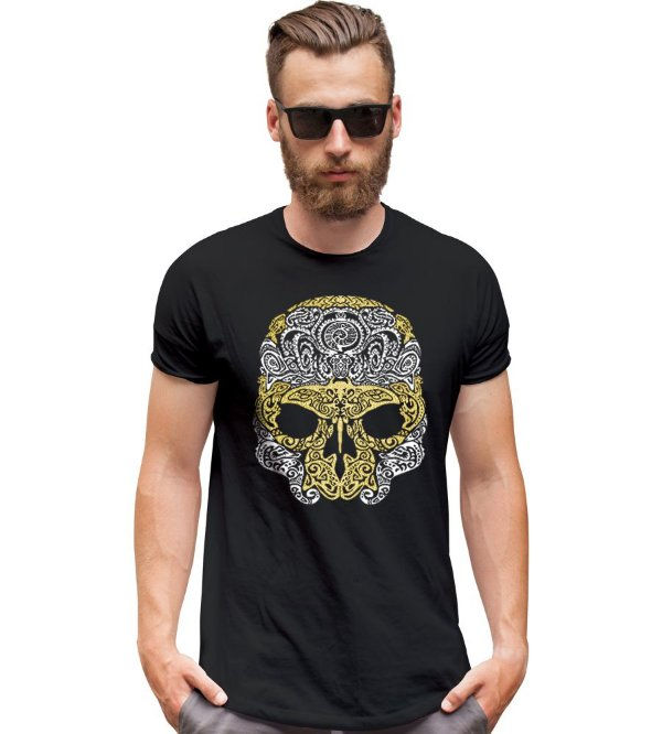 Camiseta Outdoor Skull Marine