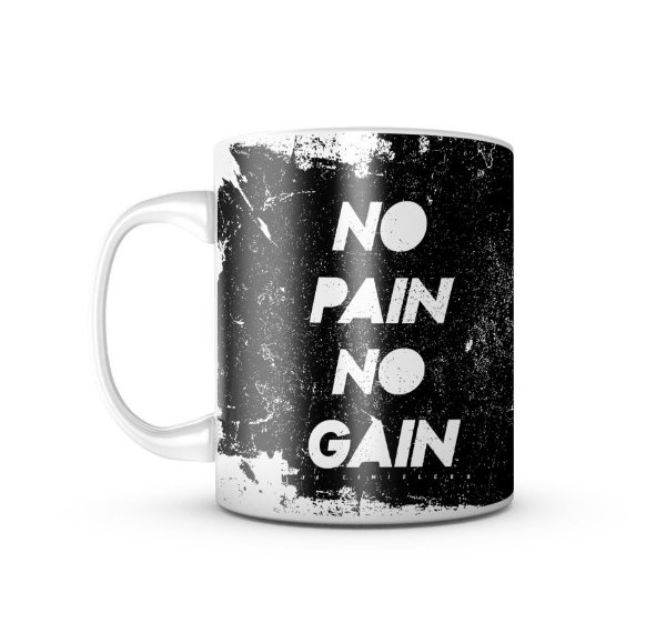 Caneca T6 Skull No Pain No Gain 325ML