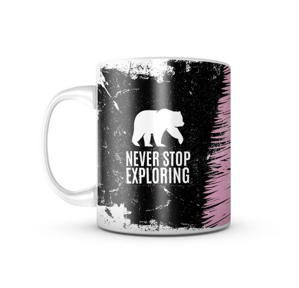 Caneca Never Stop Exploring 325ML