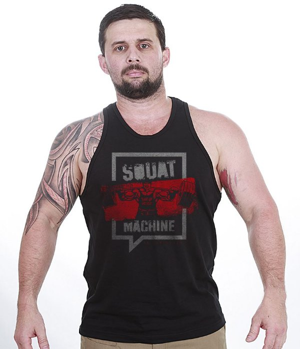 Camiseta Regata Academia Squat Machine