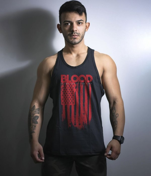 Camiseta Regata Militar Blood Is The Ink Of Freedom