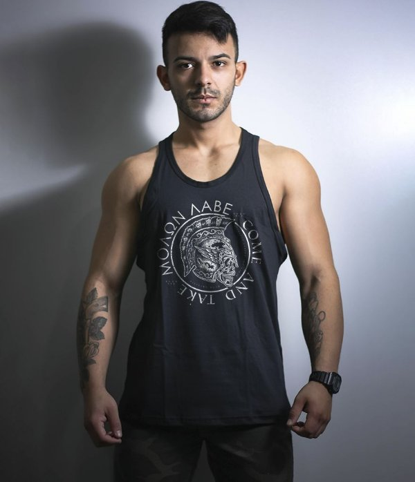 Camiseta Regata Militar Molon Labe Come and Take