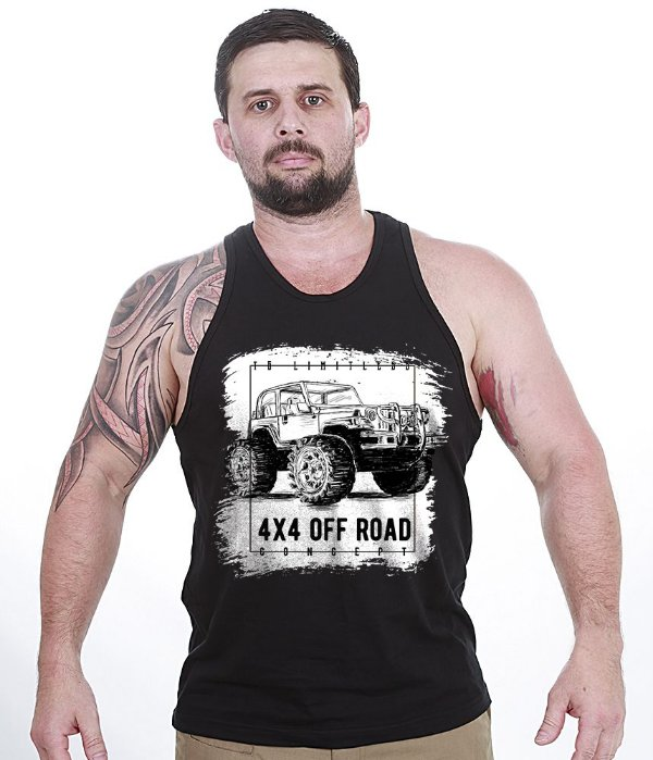 Camiseta Regata Off Road 4x4 Limitless