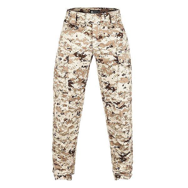 Calça Militar Tática Combat Camuflado Digital Desert Invictus
