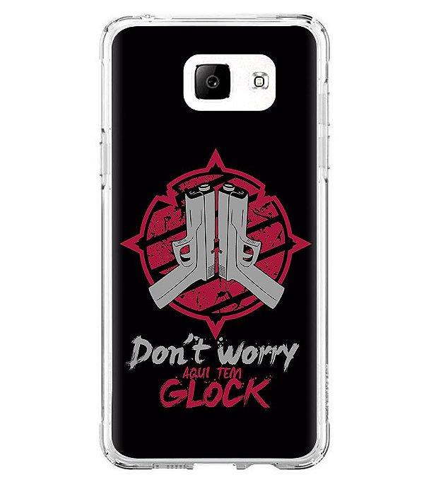 Capa para Celular Militar Don't Worry Aqui Tem Glock
