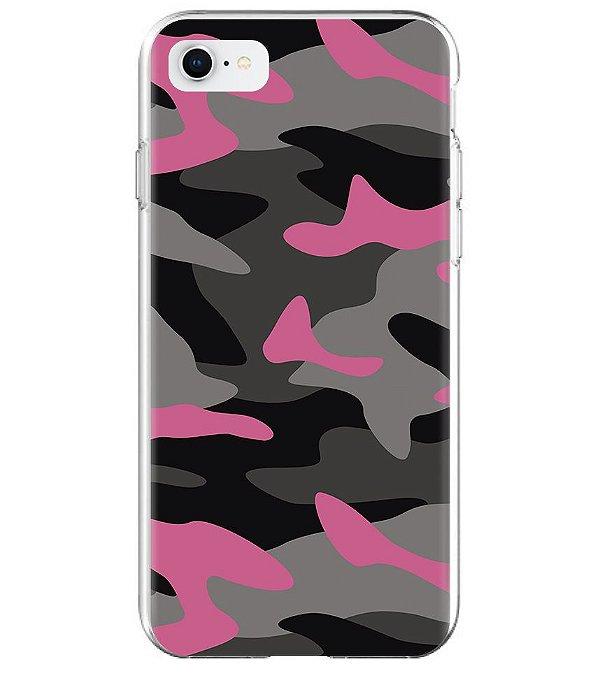 Capa para Celular Militar Camuflado Multicam Pink