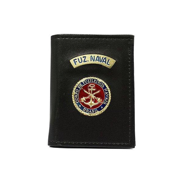 Carteira Fuzileiro Naval Com Distintivo e Porta Funcional