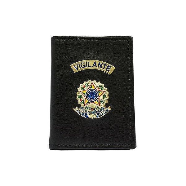 Carteira Vigilante com Distintivo e Porta Funcional