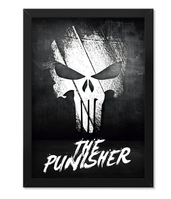Poster Militar com Moldura The Punisher O Justiceiro