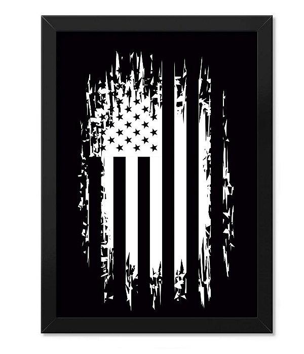 Poster Militar com Moldura EUA Defende