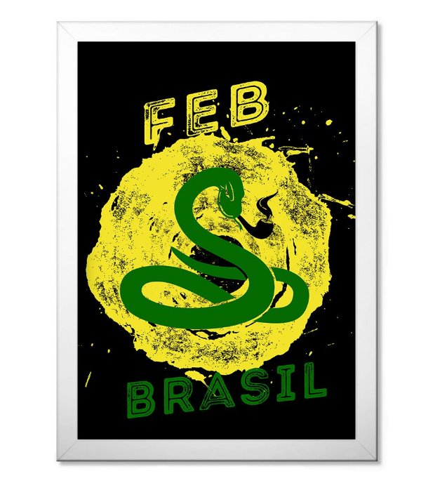 b839fc6bf5 Poster Militar com Moldura FEB - Força Expedicionária Brasileira ...