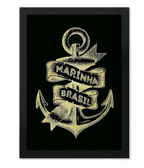 3b6a03f256 Poster Militar Com Moldura Marinha do Brasil - Camisetas Militares ...
