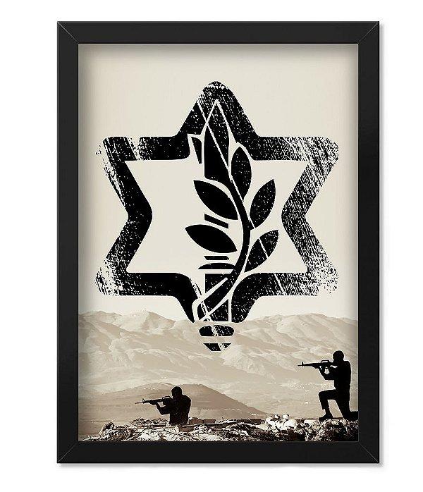 Poster Militar com Moldura Israel Defence