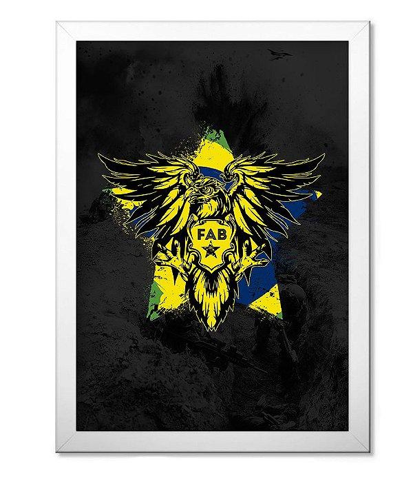 Poster Militar com Moldura FAB Força Aérea Brasileira