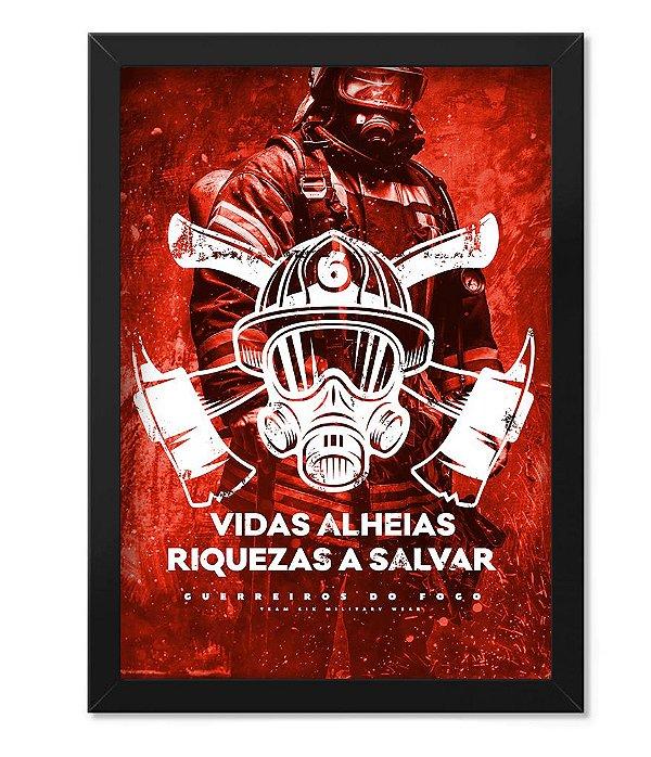 Poster Militar com Moldura Vidas Alheis Riquezas a Salvar