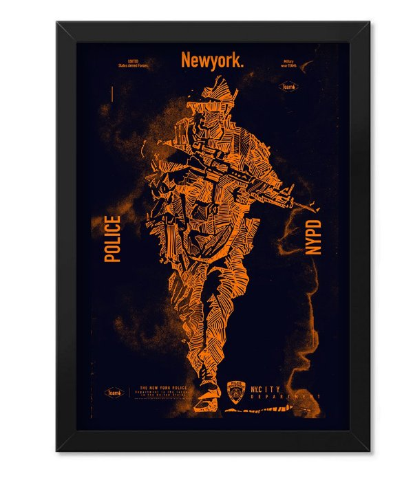 Poster Militar com Moldura NYPD