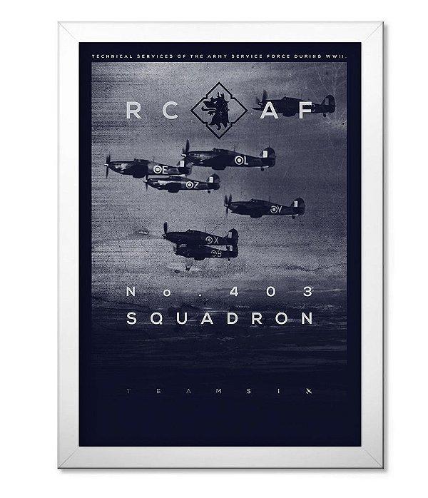 Poster Militar com Moldura RC AF Canadá