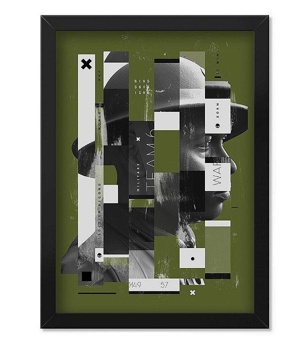 Poster Militar com Moldura Second Soldier