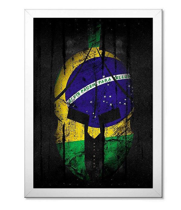Poster Militar com Moldura Si Vis Pacem para Bellum Brasil