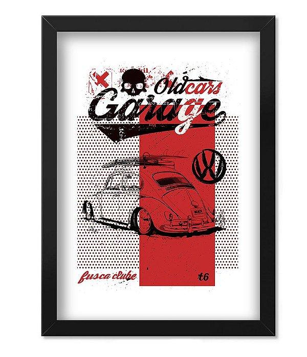 Poster com Moldura Old Cars Garage