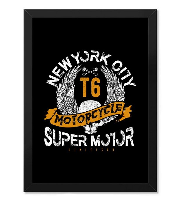 Poster com Moldura New York City Super Motor