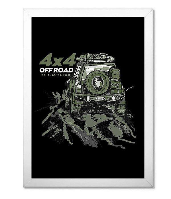 Poster com Moldura Off Road Green 4x4