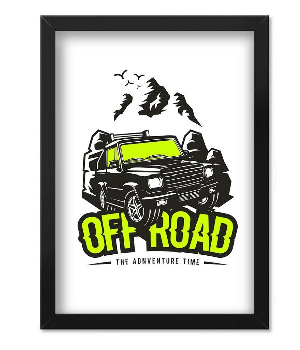 Poster com Moldura Off Road Adventure Time