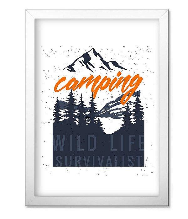 Poster com Moldura Outdoor Camping Wild Life Survivalist