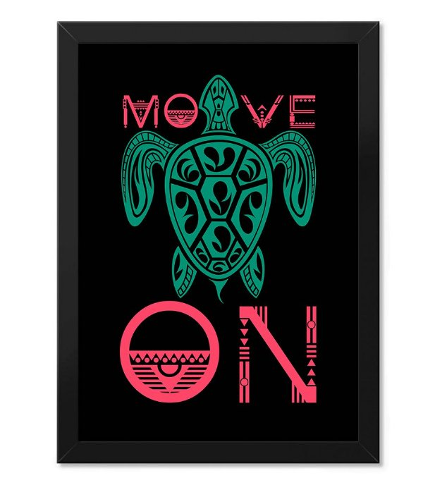 Poster com Moldura Outdoor Move On