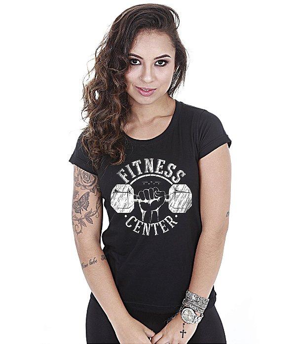 Camiseta Academia Baby Look Feminina Fitness Center