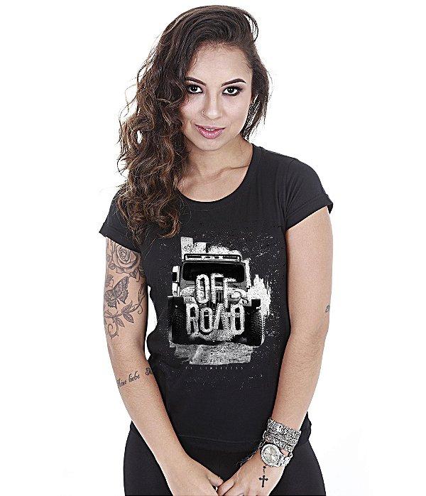 Camiseta Off Road Baby Look Feminina Sem Limites