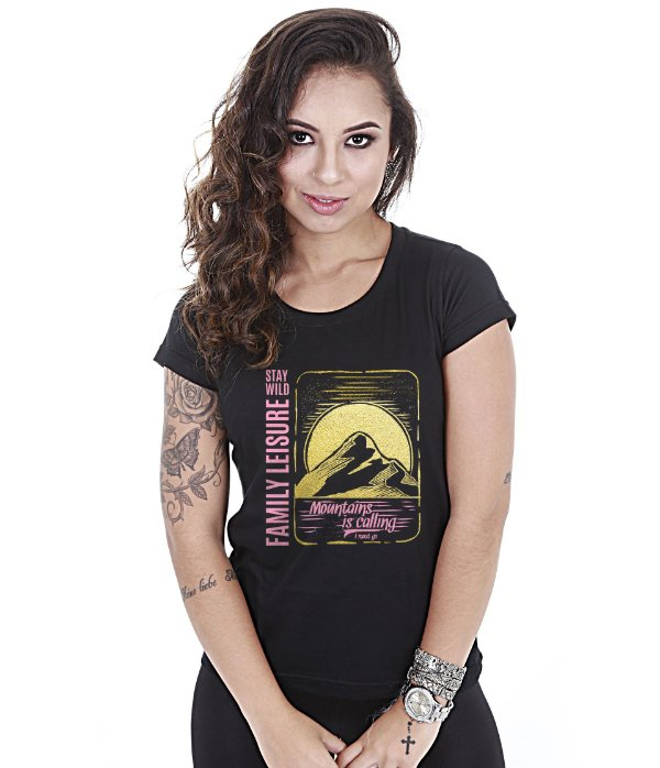 Camiseta Outdoor Baby Look Feminina Life Sure