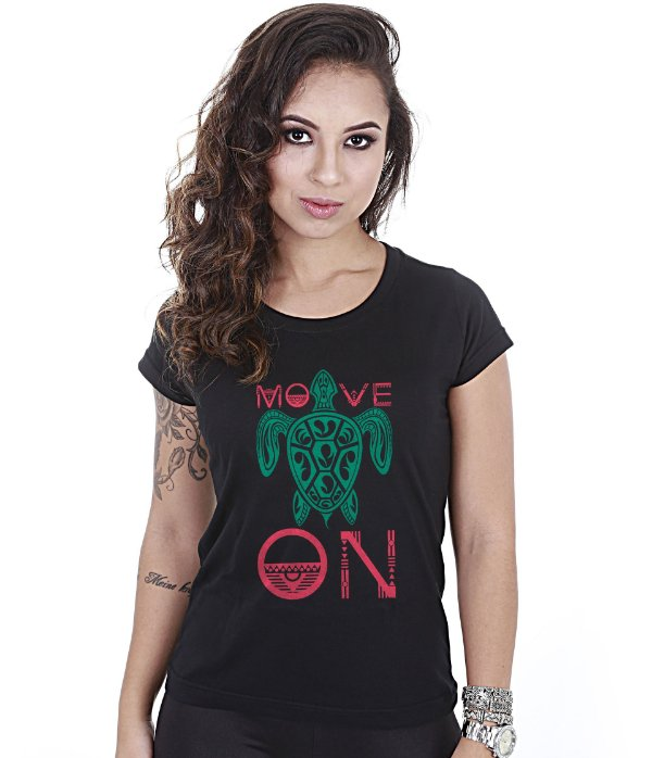 Camiseta Outdoor Baby Look Feminina Move On