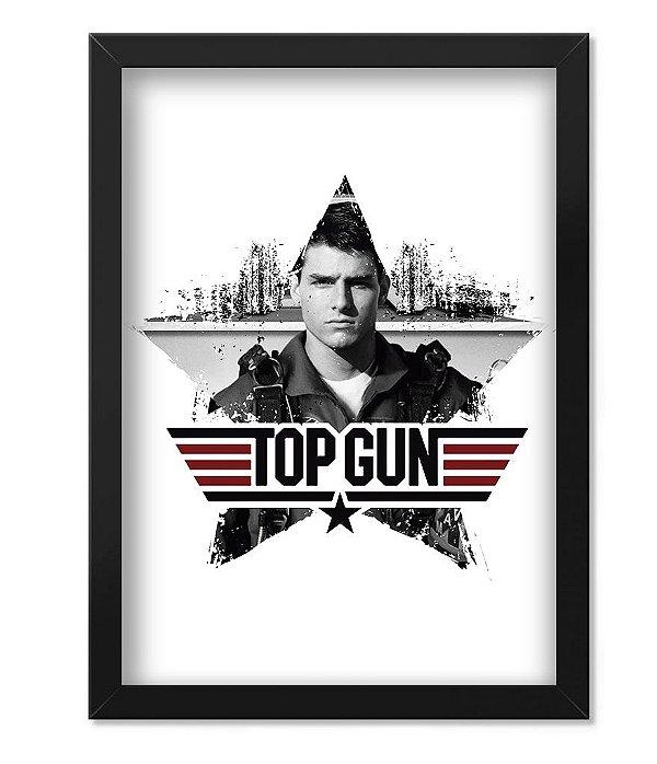 Poster Militar com Moldura Top Gun