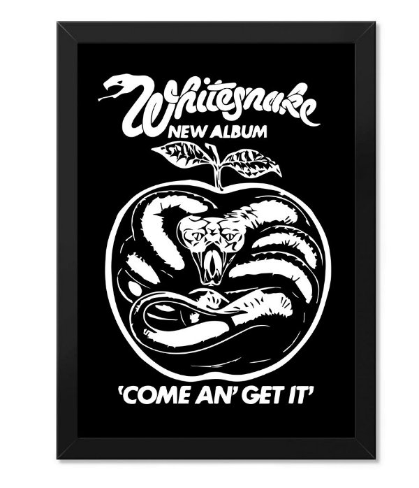 Poster com Moldura Whitesnake Come An Get It