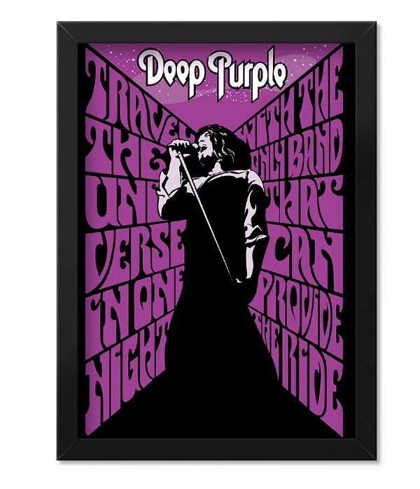 Poster com Moldura Deep Purple