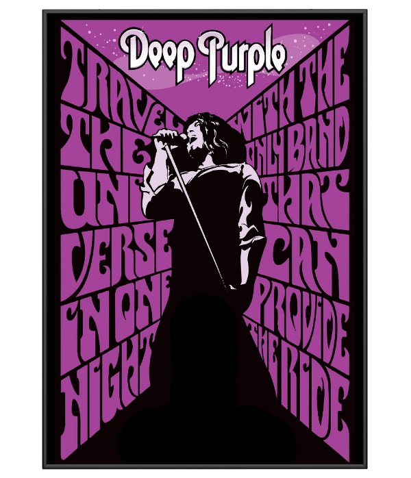Poster Minimalista Banda Deep Purple