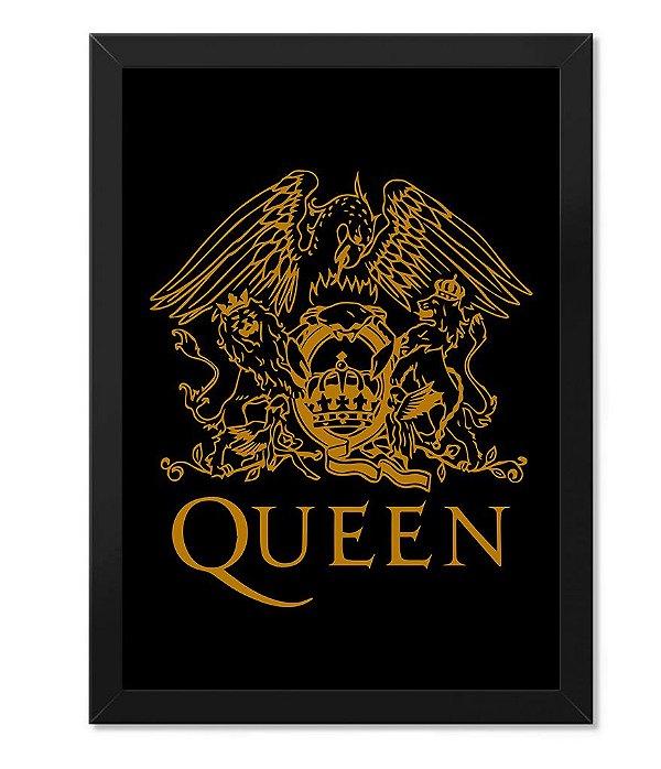Poster com Moldura Banda Queen