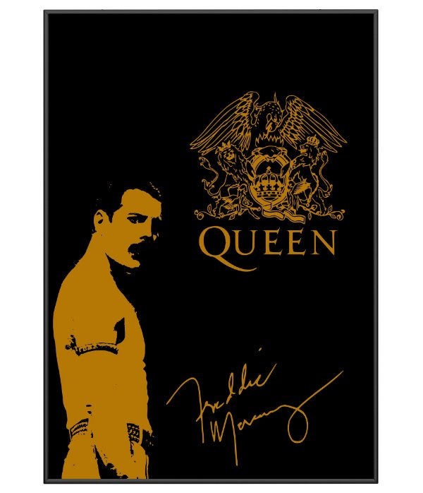 Poster Minimalista Freddie Mercury