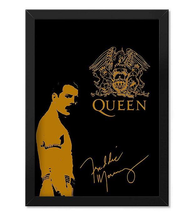 Poster com Moldura Freddie Mercury