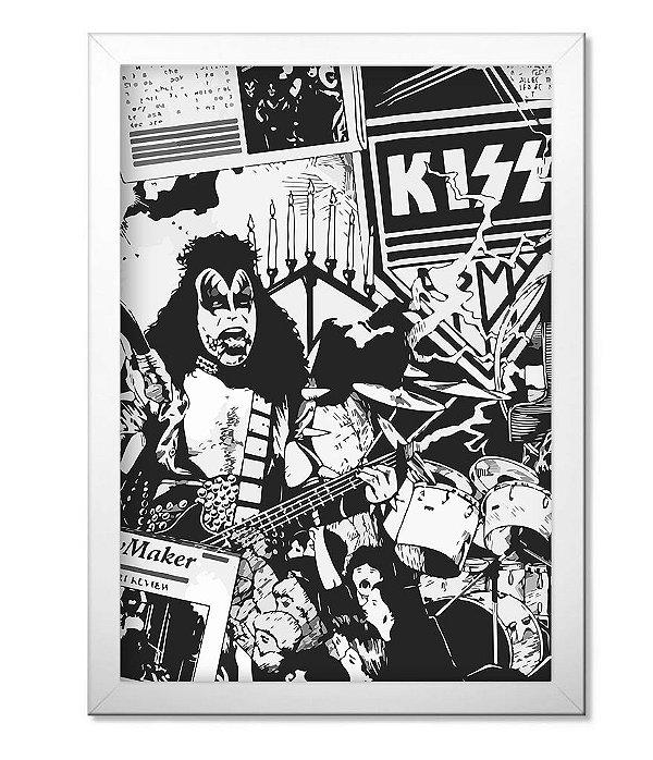 Poster com Moldura Banda Kiss