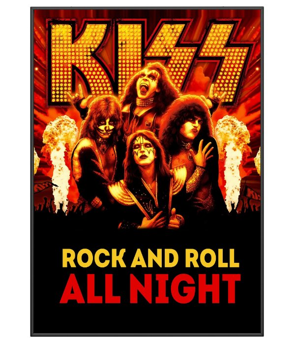 Poster Minimalista Kiss Rock And Roll