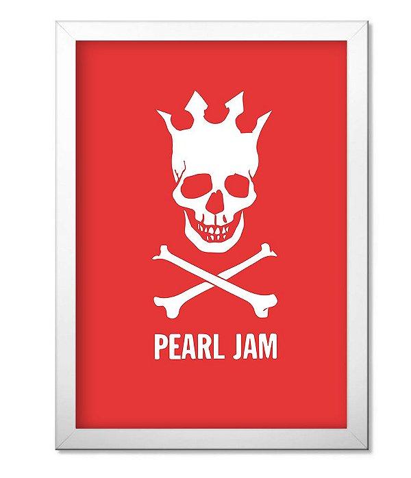 Poster com Moldura Pearl Jam