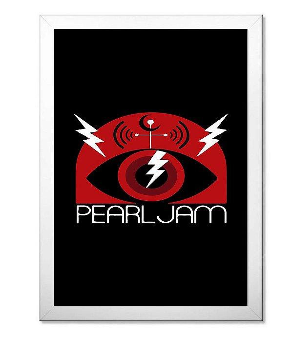 Poster com Moldura Banda de Rock Pearl Jam