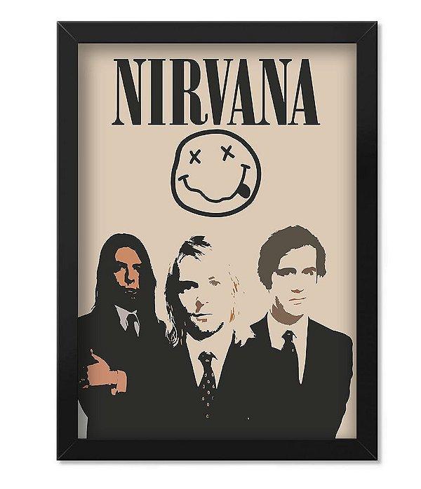 Poster com Moldura Banda Nirvana