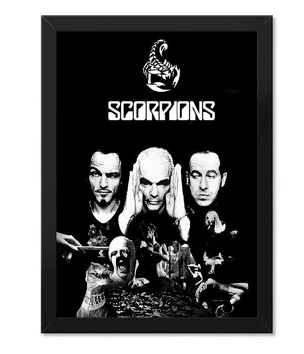 Poster com Moldura Scorpions