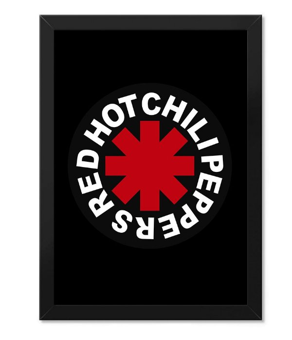 Poster com Moldura Red Hot Chili Peppers