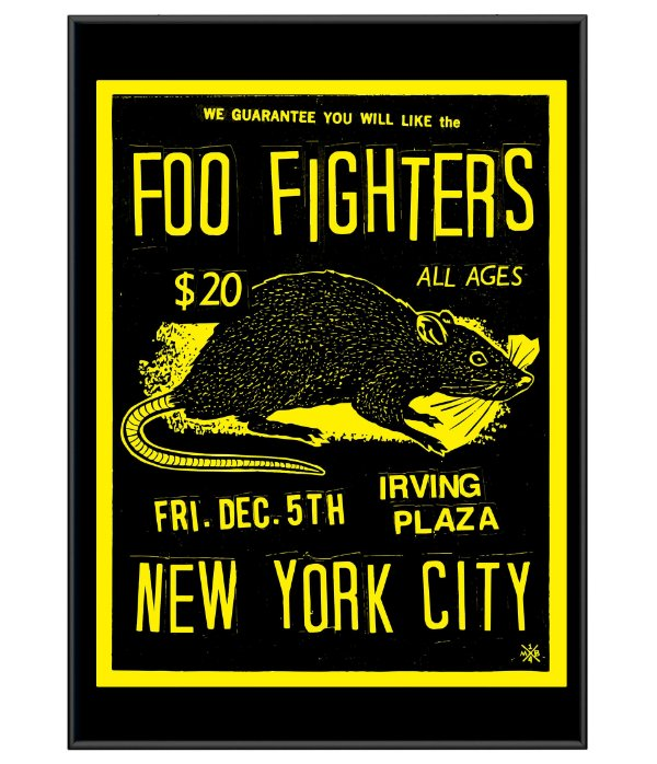 Poster Minimalista Banda Foo Fighters