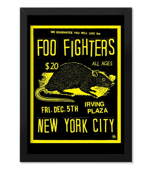 Poster com Moldura Banda Foo Fighters